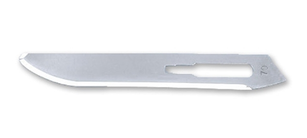 Picture of #70XT Non-Sterile Carbon Steel Scalpel Blades -<br> Box of 100