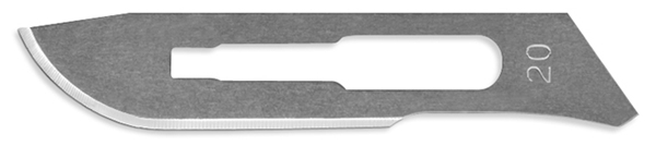 Picture of #20 Non-Sterile Carbon Steel Scalpel Blades - Box of 100