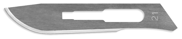 Picture of #21 Non-Sterile Carbon Steel Scalpel Blades - Box of 100