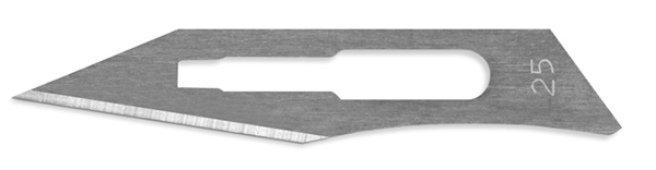 Picture of #25 Non-Sterile Carbon Steel Scalpel Blades - Box of 100